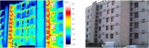 Exemple d'une thermographie sur une copropriété